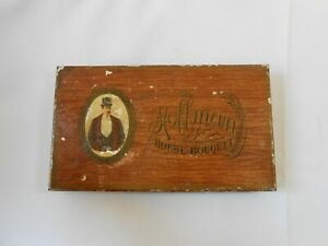 Vintage Metal The Hoffman House Bouquet Cigar Box With Factory Humidor $19.99