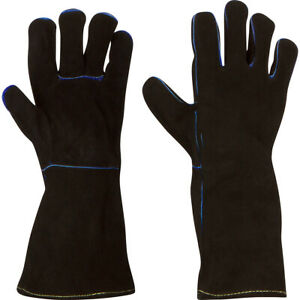 Welding Gloves Cowhide Leather Made with Kevlar Barbecue Fireplace Welder $14.99