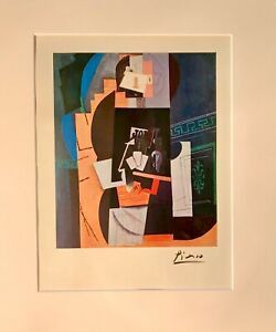hand signed Picasso 1959 matted offset lithograph; Chagall Matisse Dali era $225.00
