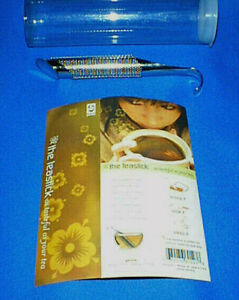 GAMILA Stainless Cylinder TeaStick Infuser for Full leaf Tea NEW in package $12.95