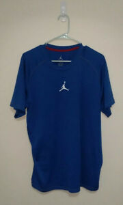 Jordan dry fit shirt Blue Great Condition Size Mens Large Fast Shipping $14.75