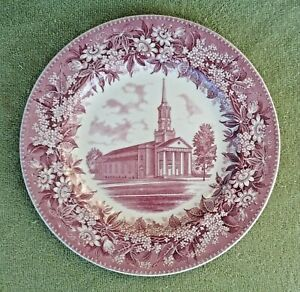 Wedgwood Gettysburg College Christ Chapel Red Transferware Commemorative Plate $29.99