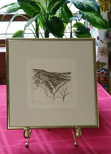 Signed Elizabeth King Durand Zinc Plate Print Etching Finger Lakes II 20 150 $82.00