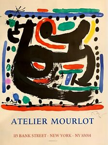 hand signed Miro 1967 lithograph with authentication; Picasso Chagall Dali era $1200.00