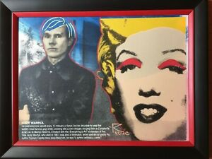 Homage to Andy Warhol quot;Marilyn oil on canvas silkscreen Steve Kaufman Ringo $549.00
