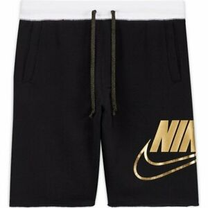 Authentic Jordan Nike Shorts Black Gold Loose Fit Poly Pockets Reg $60 $39.75