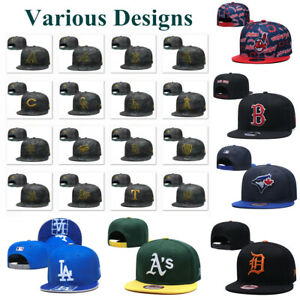Stylish Camouflage Embroidered MLB Football Hat Flat Brim Snapback Baseball Cap