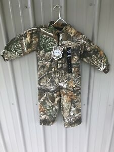 Toddler Kids Camo Insulated Coveralls Size 4T $29.95