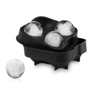 2PCS 6 Cubes Ice Cube Mold Tray Container Whiskey Ice Ball Maker Silicone Mould