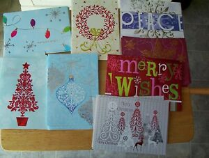 Box of 29 Foil Christmas cards Assorted designs colored envelopes Paper Magic $5.00