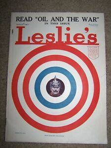 LESLIES ILLUSTRATED NEWSPAPER AUGUST 9th 1917 quot;For Target Practicequot; WW1 WWI $40.00