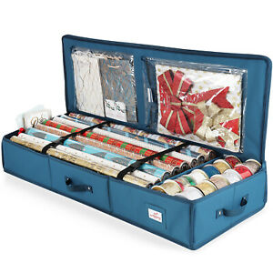Christmas Wrapping Paper amp; Holiday Accessories Storage Organizer Box Heavy Duty $22.99