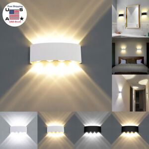 Nordic Wall Lamp Led Aluminum Outdoor Indoor Up Down wall lights Modern For Home $32.29