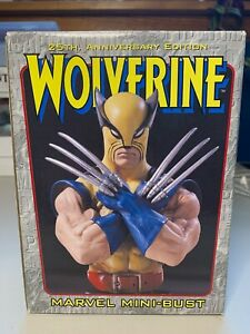 Marvel Limited Bowen Designs Mini Bust Wolverine 25th Anniversary #1702 2000 $50.00