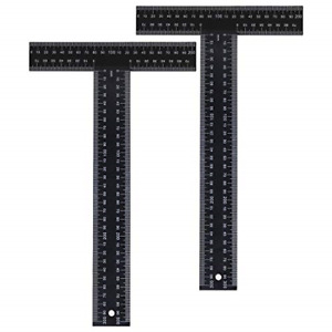 Suwimut 2 Pack T Square 12 Inches Metal Ruler Drafting Tools Architectural Tria $20.82