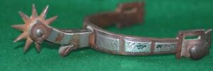 Antique Buermann Sterling Single Mount Hand Forged Steel one Spur