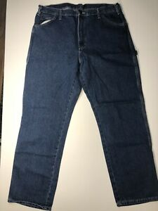 DICKIES MEN#x27;S WORK RELAXED FIT CARPENTER JEANS SZ: 38X32 GREAT JEANS EUC $20.00