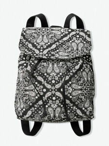 Victorias Secret Pink Backpack Shoulderbag Paisley Black white $34.15