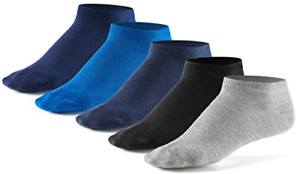 Mens Liner Ankle Socks 10 Pair Pack by Mat amp; Vics Cotton Classic Comfortable UK GBP 16.89