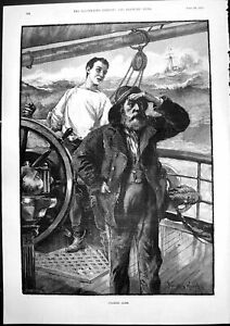 Old Nearing Home Davidson Knowles Sailors Wheel Ship Look Shore 1893 Victorian GBP 22.00