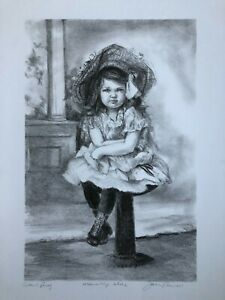 """Joan Purcell Lithograph """"Wednesdays Child"""" – Artist Proof Hand Signed $165.00"""
