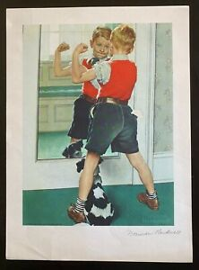Norman Rockwell Signed Print quot;The Musclemanquot; Lithograph on paper $400.00