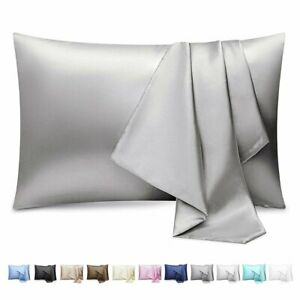 2 Pack Silk Satin Pillowcase Silky Pillow Cases For Hair And Skin Cushion Cover $8.99