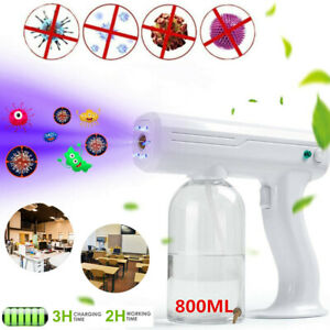 Spray Gun Blue Light Nano Steam Sprayer Fogging Home Office Car Disinfection US $42.85