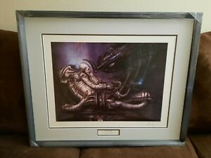 H. R. GIGER LITHOGRAPH: PILOT IN COCKPIT SIGNED NUMBERED 578 1000 $1500.00