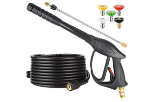 High Pressure Washer Power Spray Gun Kit 3200 psi Nozzle Extension Wand Hose M22 $23.75