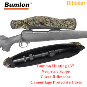 Bumlon Hunting 13quot; Neoprene Scope Cover Riflescope Camouflage Protective Cases