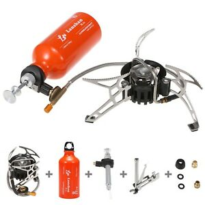 Outdoor Camping Fuel Oil Stove with 500 ml Gasoline Fuel Bottle Diesel Alcohol