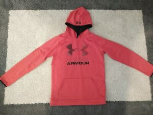 Boys Red Under Armour Loose Fit Pullover Hoodie XL $20.00