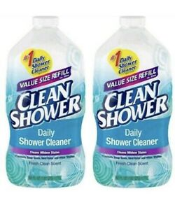 Clean Shower Daily Shower Cleaner Refill 60oz 2 Pack Free Priority Shipping $25.00