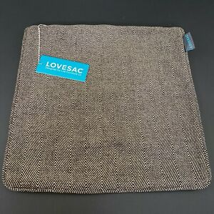 LoveSac 18quot;x18quot; Throw Pillow Cover Case Brown Chenille Tan Tweed #WA5388 $15.98