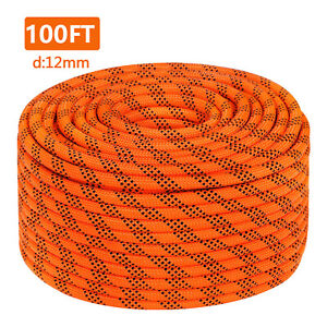 7 16 Double Braid Polyster Rope 100FT Nylon Rope 8400Lbs Breaking Strength $30.99