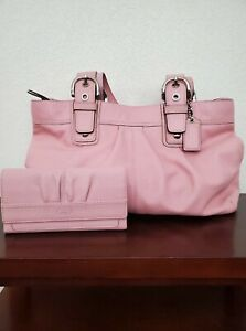 Pink Coach purse And Wallet