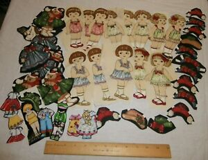 43 pc Cloth Paper Dolls Double Sides Fuseable Wonder Under Girls Kids toy $34.95