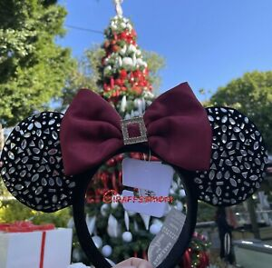 Disney Designer Winter Minnie Mouse Ear Headband for Adults by BaubleBar IN HAND $98.99
