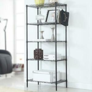 5 Layers Wire Shelves Unit Adjustable Metal Shelf Rack Kitchen Storage Organizer $35.99