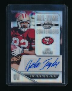 JOHN TAYLOR 2018 PANINI CONTENDERS OPTIC ALL TIME CONTENDERS AUTO *49ERS* $29.99
