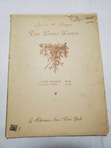 Two Piano Pieces Valse Caprice Sheet Music 1909 James H. Rogers $9.95