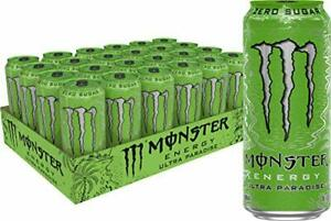 Monster Energy Ultra Paradise Sugar Free Energy Drink 16 Ounce Pack of 24 $27.98