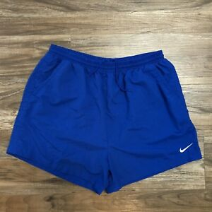 Vintage 1990s Nike Shorts W Pockets Blue XL White red Tag Activewear Swoosh $19.99