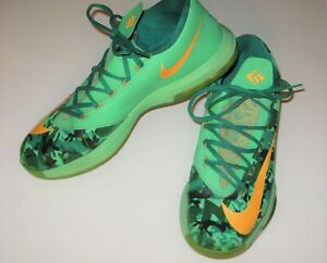 Nike Zoom KD 6 Easter Camouflage Size 11.5 Kevin Durant 35 Basketball Sneakers