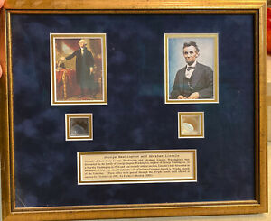 George Washington and Abe Lincoln's Hair Strands. COA With Provenance $2850.00