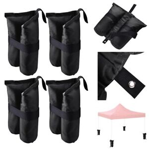 4 Pcs Weight Sand Bag w Grommet for Outdoor Pop Up Canopy Tent Gazebo Black