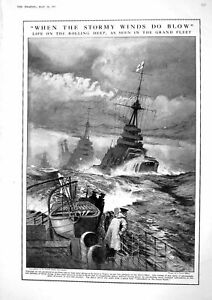 Old Vintage Print 1917 Navy War Ship Russia Government Amery Carson Lord 20th GBP 16.00