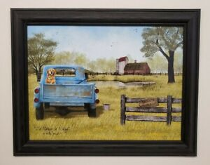 Billy Jacobs quot;I#x27;d Rather be Fishingquot; Truck barn Framed 12x16 wall picture