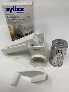 ZYLISS NEW Swiss Hard Cheese Rotary Hand Grater Fine Blade White 11202 C $34.95